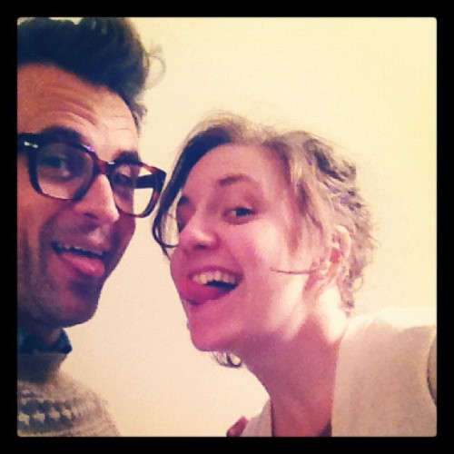 Heaven is a place on earth with @lenadunham  (Taken with instagram)