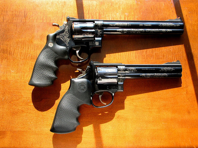 S&W 29 Classic 44Mag and S&W 586 .357 Magnum by Ace in Atlanta on Flickr.
