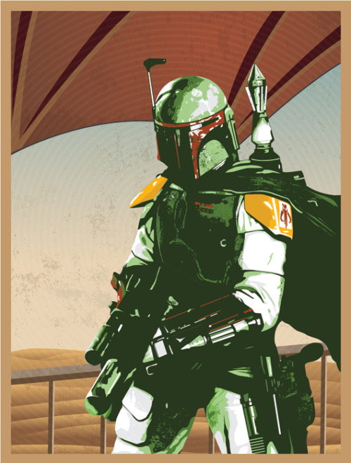 assorted-goodness:  Boba Fett Created by Joel LeLièvre (via: tiefighters)