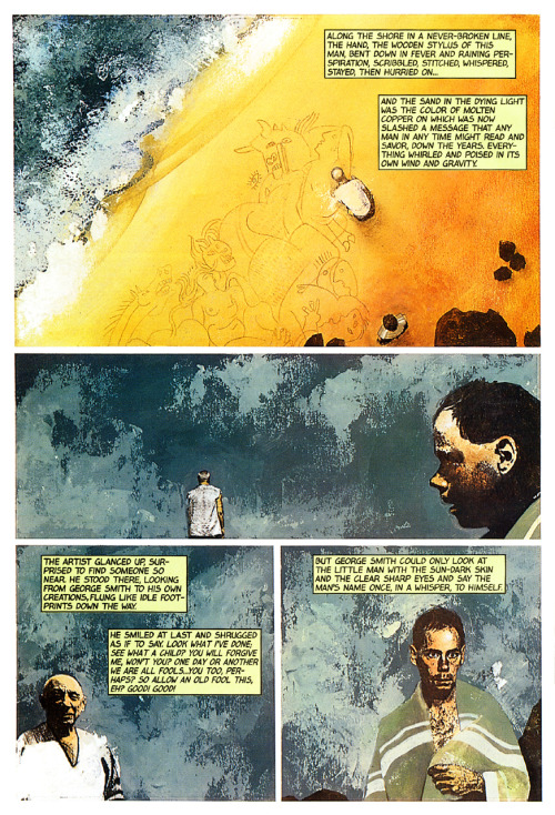 Page from Ray Bradbury's 'Picasso Summer' adaptation by John Ney Rieber and John Van Fleet, 1993.Ray Bradbury, 1920-2012