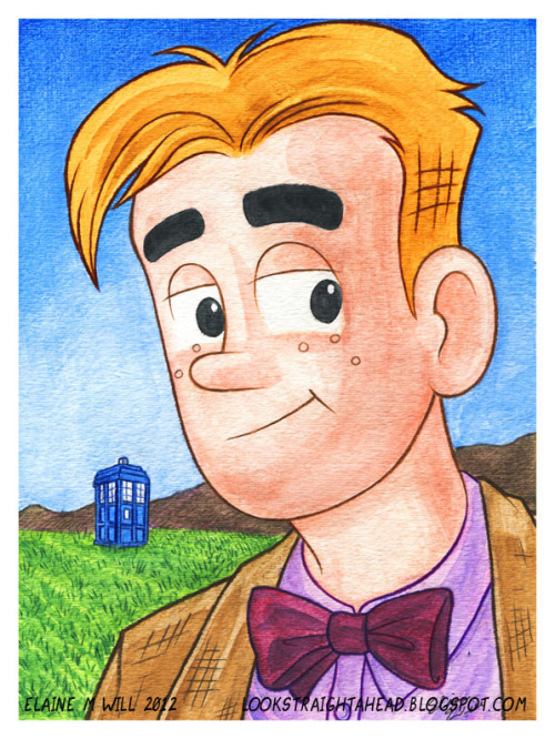 lookstraightahead:  Archie Andrews as the 11th Doctor Who. I, uh…have no idea why. I thought it would be fun. (He's finally a ginger!) :p (I actually have no idea if Archie fan art is allowed online? I remember reading somewhere that Archie Comics disapproved of it. If so, I will take this down.)