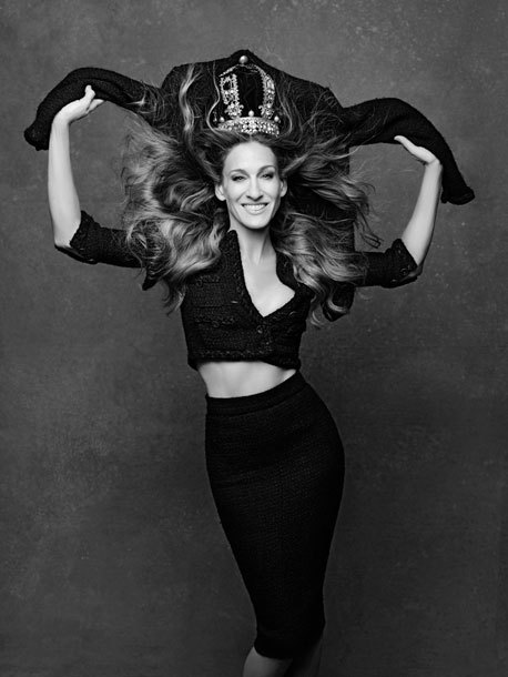 labellefabuleuse:  Sarah Jessica Parker photographed by Karl Lagerfeld for The Little Black Jacket: Chanel's Classic Revisited