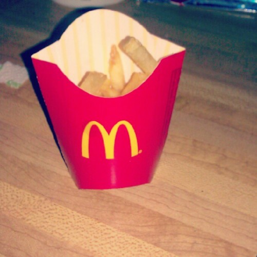 My mini fries :/ (Taken with instagram)