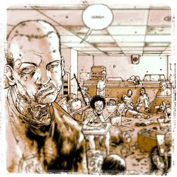 The walking dead graphic novel. #brains #zombie #comics#geekout (Taken with instagram)