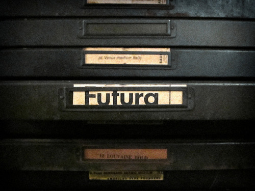 serialmachinist:  Futura by Depression Press on Flickr.