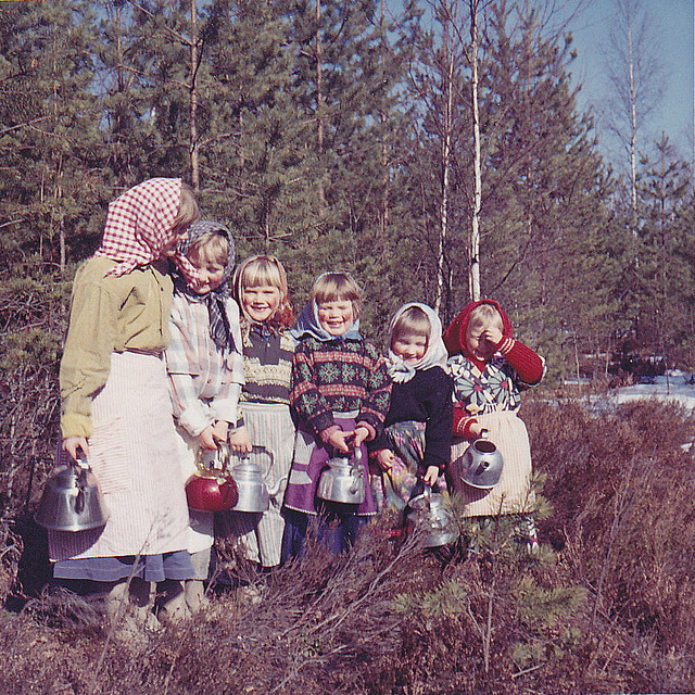 Easter witches Påskkärringar Ydrehammar 1964 by annkarlstedt on Flickr.