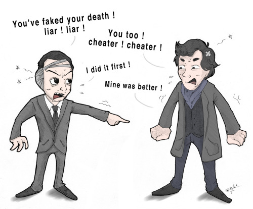 I don't care … Moriarty is immortal to me .