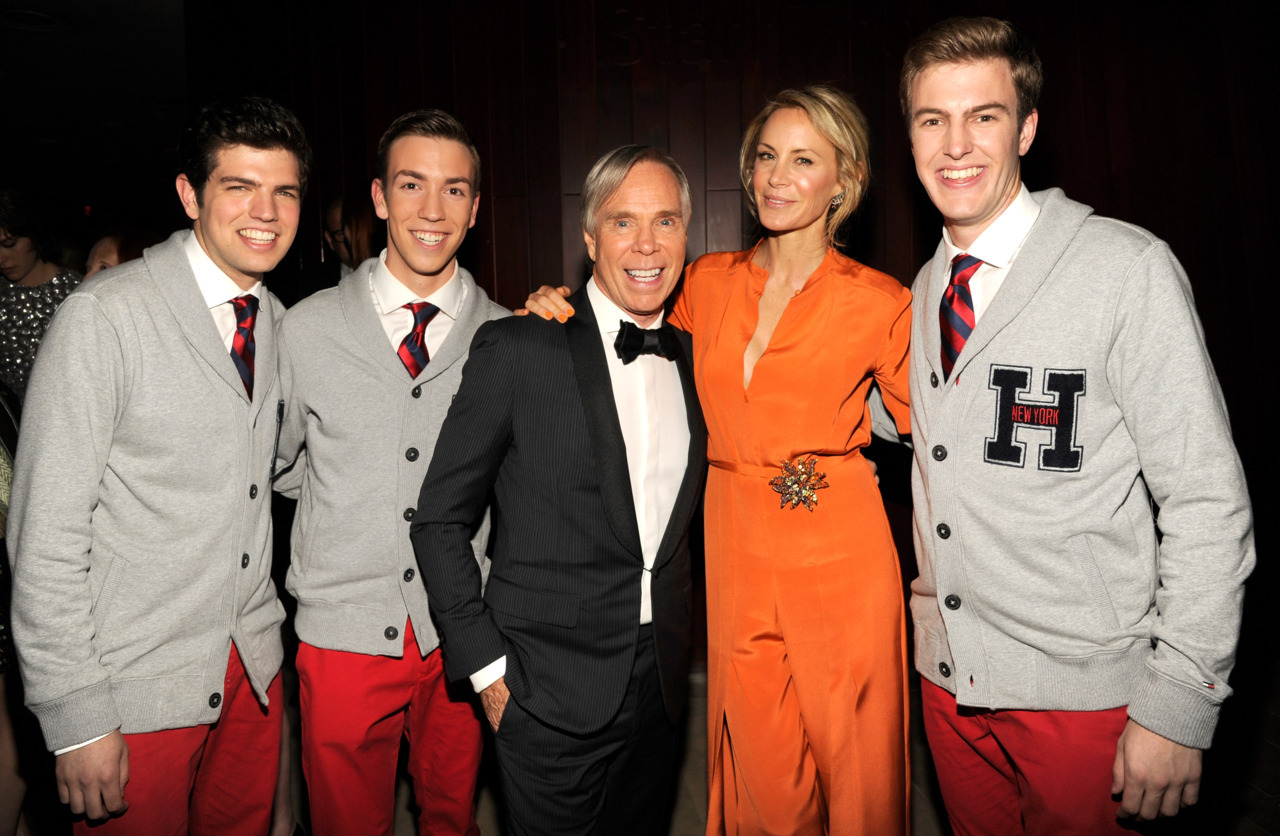Tommy and Dee Hilfiger with the Princeton Footnotes, who gave a stunning acapella performance before Tommy's acceptance of his lifetime achievement award. Photo by Kevin Mazur