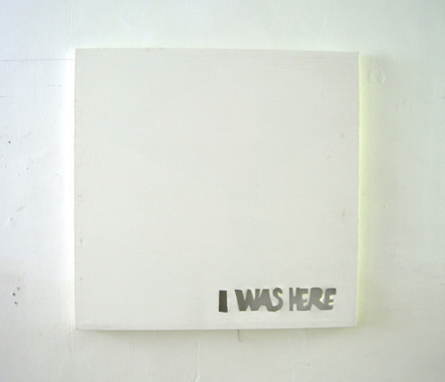 "visual-poetry:  ""i was here"" by fabian seiz"