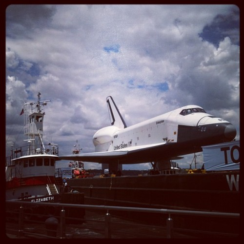 It's here. #spaceshuttle #enterprise #intrepid  (Taken with Instagram at Intrepid Sea, Air & Space Museum)