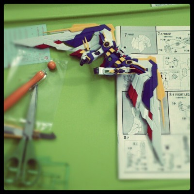 samsam04266:  Lotsa work to go. Just the body. Lol #gundam #winggundam #endlesswaltz (Taken with instagram)