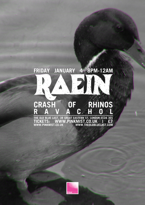 theoldbluelast:  Raein's first UK show in 6 years.
