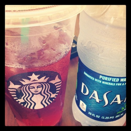 Wanted a bento caramel frap but got unsweetened passion tea instead. This is what winning looks like. (Taken with instagram)