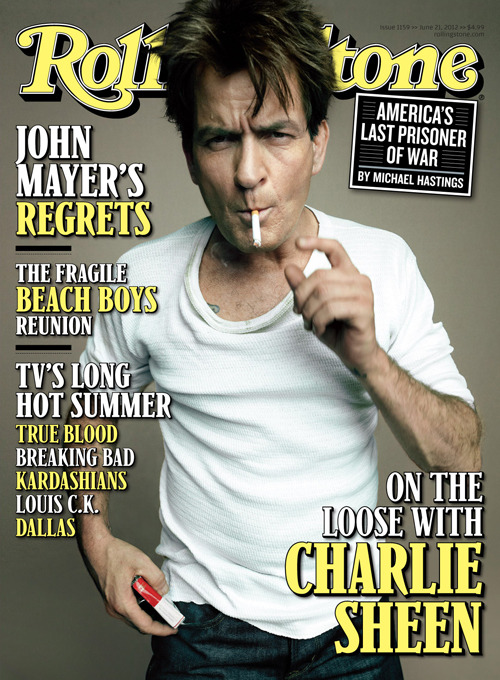 rollingstone:  Charlie Sheen may be off tiger blood and back on TV, but he hasn't cleaned up his act.  In our new cover story on newsstands Friday, Charlie Sheen talks about his public meltdown, new TV show, being off the wagon, his foot fetish and more.