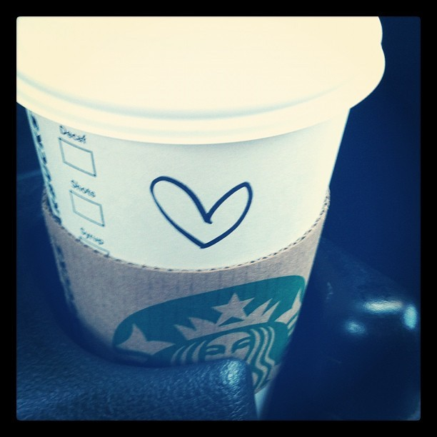 From my favorite #barista at #starbucks. 😊😘❤ #coffee #tea #chai #latte #friend #friendship #bestfriend #love #heart #handwriting (Taken with instagram)