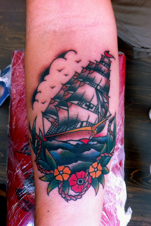 Sailing Ship From TodayMauro Quaresima - Psycho Tattoo