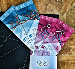 My Olympic Tickets in all their glory