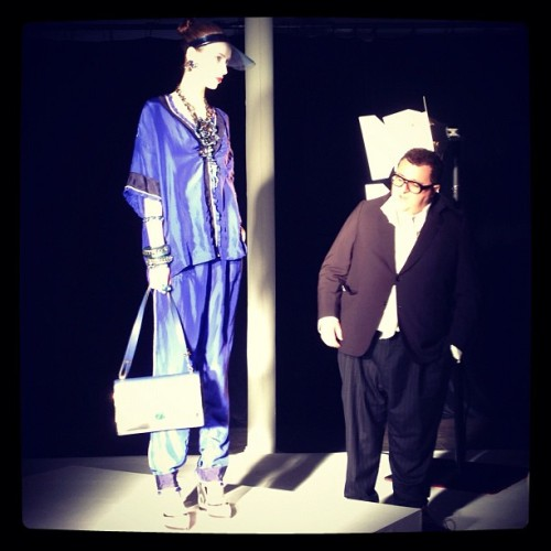 netaporter: Pajamas are the new leisure suit at Lanvin #resort13 (Taken with instagram)