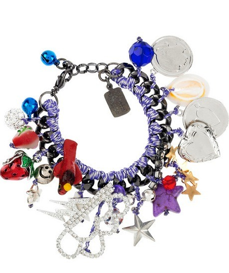 glamour:  Channel your middle school self with this super fun charm bracelet.  Venessa Arizaga Flash charm bracelet, $185 (originally $370), theoutnet.com