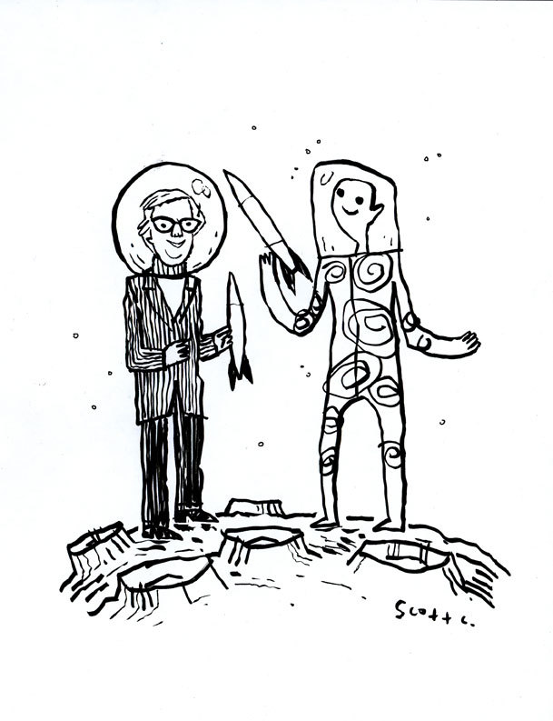 scottlava:  Goodbye, Ray Bradbury!  My favorite author of all time.