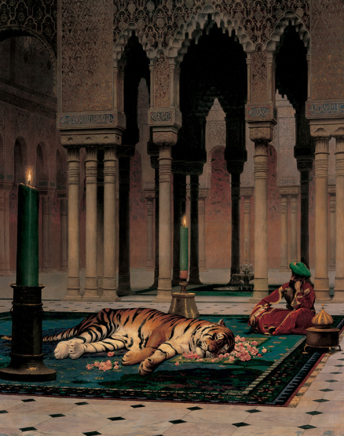 centuriespast:  Jean-Léon Gérôme (French, 1824–1904), The Grief of the Pasha , 1882  Joslyn Art Museum