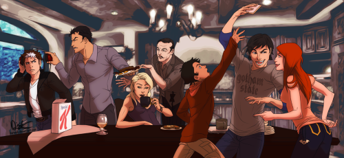 iamthespeedforce:  Nananananana BREAKFAST by *Harseik  BATFAMILYYYY