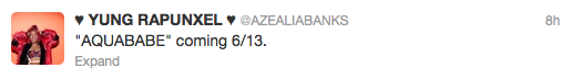 New song 'Aquababe' from Azealia's mixtape 'Fantasea' out 6/13!