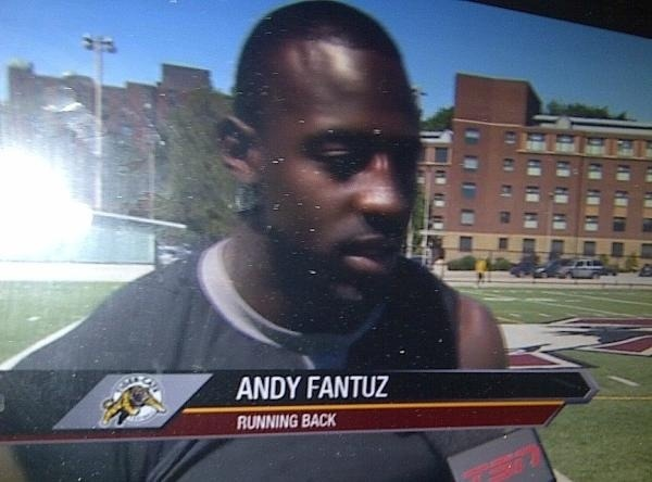Man, being a Ti-Cat has changed Andy Fantuz.