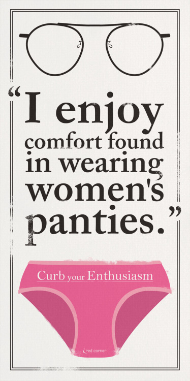 CURB your ENTHUSIASM - Panties Poster.