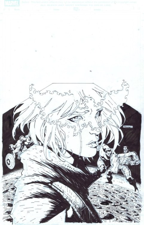 ryanstegman:  Want to buy the original art for the cover of AVX 5? You're in luck, because @cadencecomicart has it for sale! http://cadencecomicart.com/art.php?page=16166