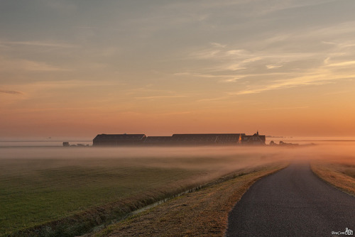 Farm at Sunrise by BraCom (Bram) on Flickr.