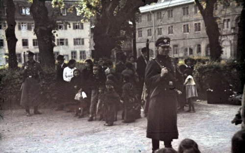 Sinti and Roma people (Gypsies) about to be deported by the Nazis, Asperg, Germany, 22 May 1940. Source: Deutsches Bundesarchiv (German Federal Archive)