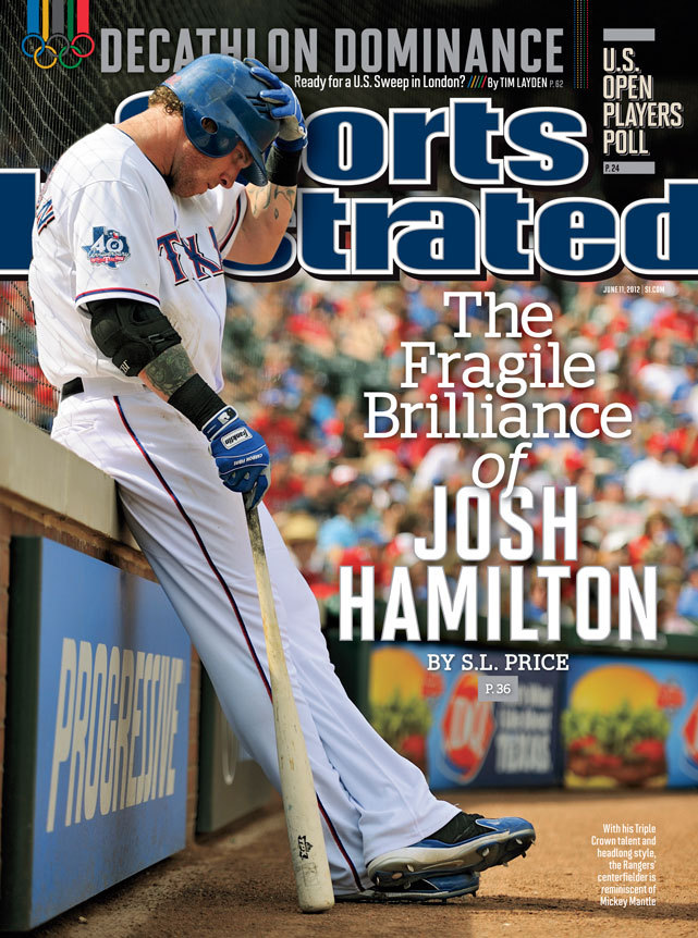 siphotos:  This week's SI cover features Josh Hamilton, who is drawing comparisons to Mickey Mantle with his breathless style of play. (Greg Nelson/SI)