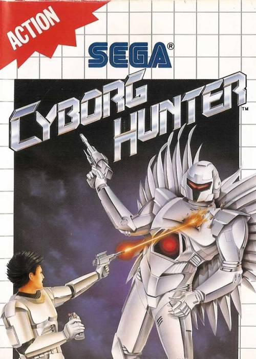 vgjunk:  Cyborg Hunter, Master System. I cannot see the cyborg's crotch as anything other than the face of a smiling big cat.