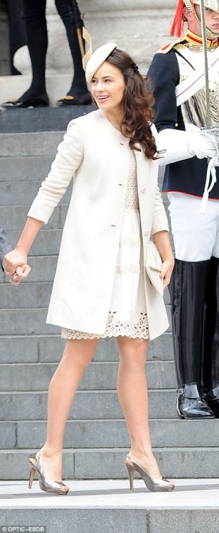 Lady Frederick Windsor went shorter, but it works!