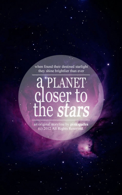 My new fanfiction. Click the poster to proceed to the story. Title: A Planet Closer to the StarsAuthor: PinkspadesGenres: Romance, life of idols, some drama, some comedyCharacters: EXO-K and original characters