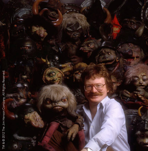 nevertoooldtolovemuppets:  Brian Froud with some goblins.