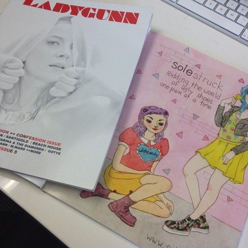 Check out the awesome ad Wishcandy drew for us in this months ladygunn magazine!! Seriously, how cute is that? (Taken with instagram)