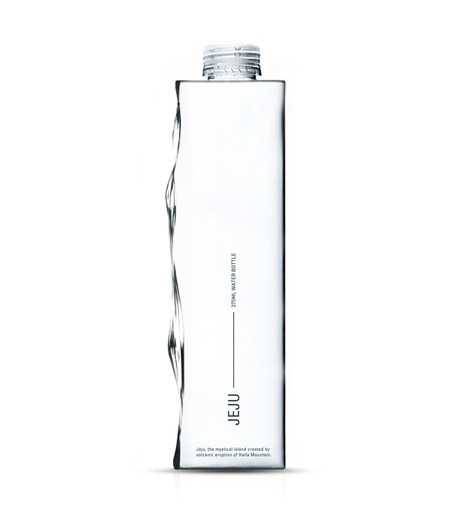 water landscape bottle for Korean water brand
