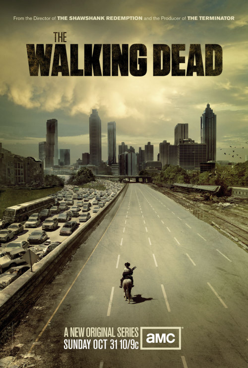 The Walking Dead is a succesfull drama TV series developed by Frank Darabont (Shawshank Redemption, Green Mile) taking place in the USA after the zombie outbreak. The TV series follows the lives of a group o survivors, who try to survive in the world flooded by zombies and to find a safe place.  The Walking Dead currently finished season 2, 3rd season is expected to start in October 2012. For more follow About Zombies. Poster source: http://www.moviesonline.ca/2010/09/bad-ass-new-walking-dead-poster-from-amc/