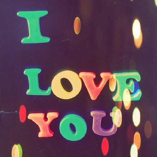 I love you #love #magnets #cute #relationships (Taken with instagram)