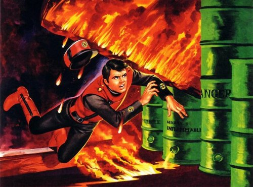 Captain Scarlet fire
