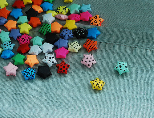 I used to make these paper stars while in my high school class. And most of them failed. :p I can't make them sharp.