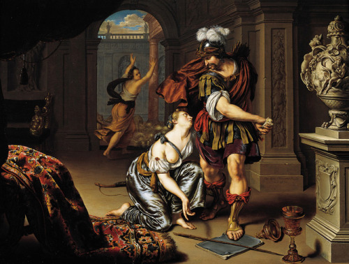 Willem van Mieris (Dutch, 1662–1747), Ulysses Threatening Circe , 1690  Joslyn Art Museum