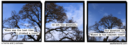 A Softer World: 825 (Why doesn't this window open? Quick. Help me lift this statue.)