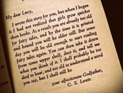 I loved this little note in The Lion, the Witch, and the Wardrobe.