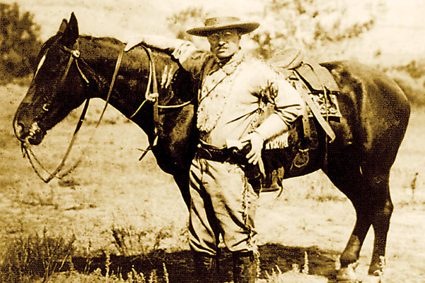 """cowboy diplomacy""  Dakota Territory rancher and former Rough Rider Teddy Roosevelt led the charge in redefining a cowboy president as a hero when he took up the nation's highest office in 1901. He kicked off the notion of presidential ""cowboy diplomacy"" by summarizing his approach to his international policy as, ""Speak softly and carry a big stick."""
