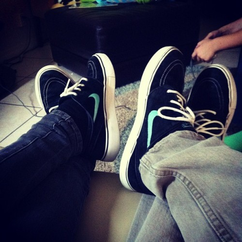 We decided to match today. #Janoski #Nike #SB #Love #Girlfriend #Shoes #Tiffany (Taken with instagram)
