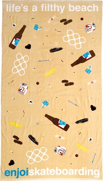 "Enjoi Son Of A Beach Sand Towel  ""life's a filthy beach""  S"