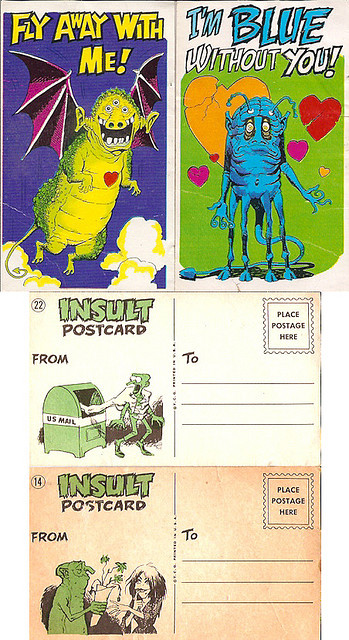 Monster Insult Cards (1960s)